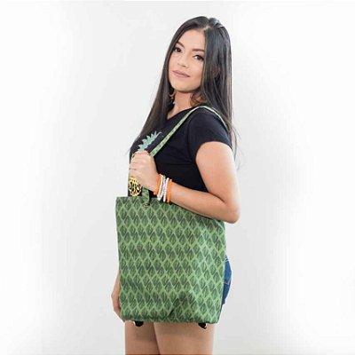 Mochila bolsa feminina estampa folha