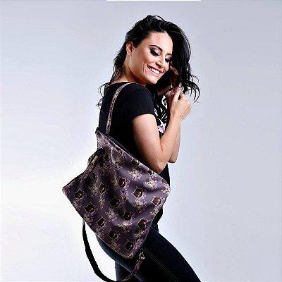 Mochila bolsa feminina estampa gatinho