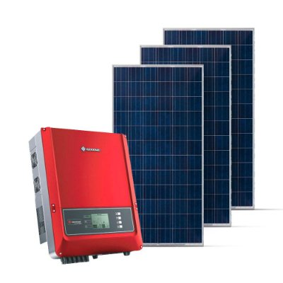 KIT GERADOR FOTOVOLTAICO GOODWE SPIN SOLAR 16,50 KWP TRI 380V (15K/330W)