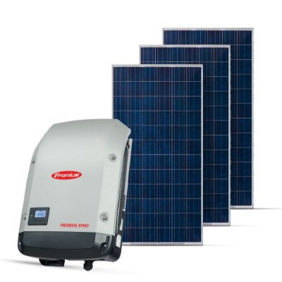 KIT GERADOR FOTOVOLTAICO FRONIUS SPIN SOLAR 3,30 KWP MON. 220V (3K/330W)