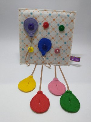 Placa Pedagógica Balões Coloridos