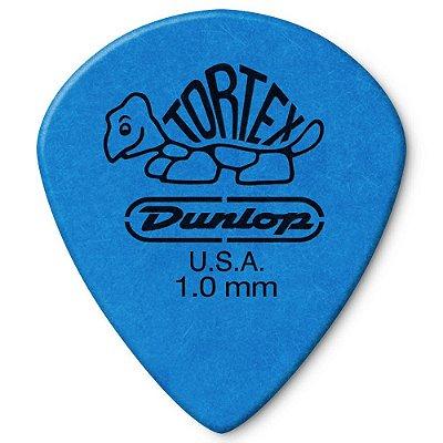 Palheta Dunlop 498-1.0 Tortex Jazz III XL 1.00mm Azul - unidade