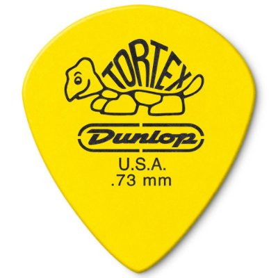 Palheta Dunlop 498-.73 Tortex Jazz III XL 0.73mm Amarela - unidade