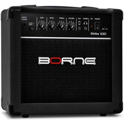 "Amplificador Borne Strike G30 combo para guitarra 15W 1x6"" Preto"