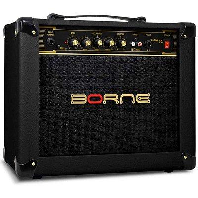 """Amplificador Borne Vorax 630 combo para guitarra 25W 1x6"""" Preto"""