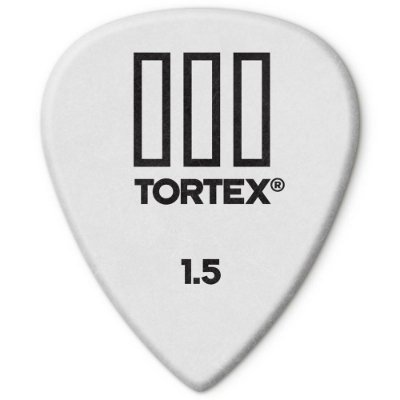 Palheta Dunlop 462-1.5 Tortex III 1.50mm Branca - unidade