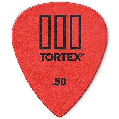 Palheta Dunlop 462-.50 Tortex III 0.50mm Vermelha - unidade