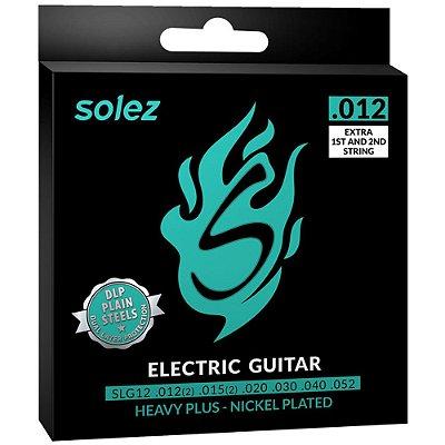 Encordoamento Guitarra Solez SLG12 012-052 Heavy - 1ª e 2ª extra