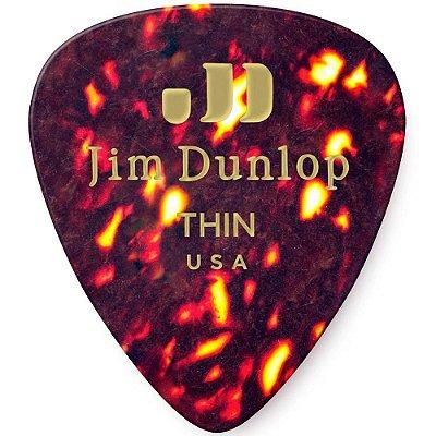 Palheta Dunlop 483 Standard Shell Thin - 12 Unidades