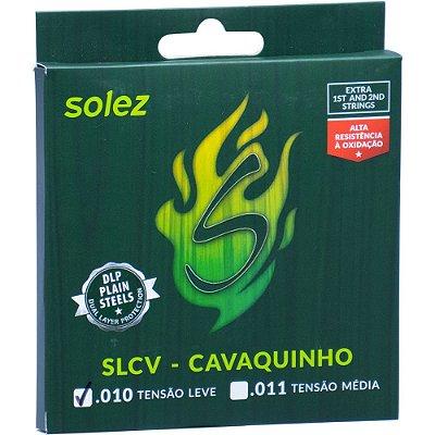 Encordoamento Cavaquinho Solez SLCV L .010-.030 Tensão Leve