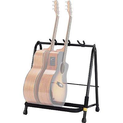 Suporte Hercules GS523B para Guitarra Baixo Violão - Rack p/ 3 instrumentos