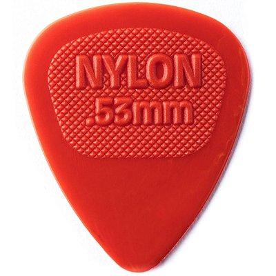 Palheta Dunlop 443 Nylon Midi 0.53mm Vermelha - Unidade
