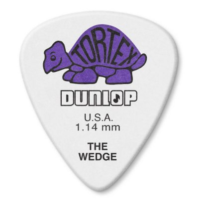 Palheta Dunlop 424-114 Tortex Wedge 1,14mm - Unidade