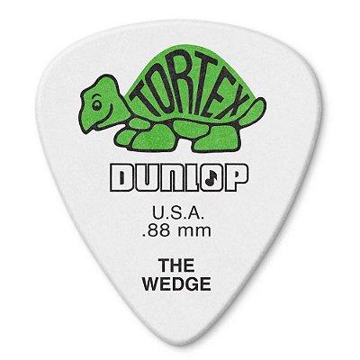 Palheta Dunlop 424-088 Tortex Wedge 0,88mm - unidade
