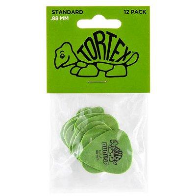 Palheta Dunlop 418P Tortex Standard .88mm Green - Pacote com 12 un