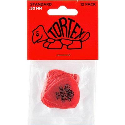 Palheta Dunlop 418P Tortex Standard .50mm Red - 12 unidades