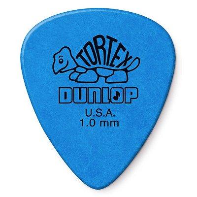 Palheta Dunlop 418 Tortex Standard 1.00mm Azul - Unidade