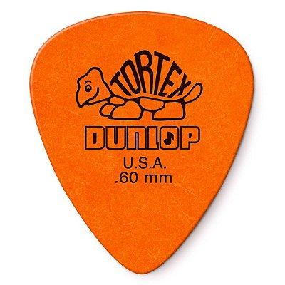 Palheta Dunlop 418-.60 Tortex Standard 0.60mm Laranja - Unidade