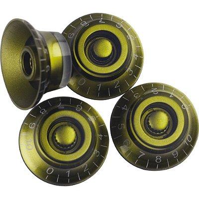 Knob Plástico Custom Sound Modelo LP Dourado 4 Peças - CKB 2 - GD