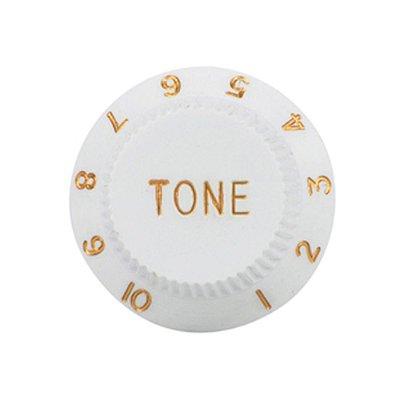 Knob Branco Tone Plástico para Guitarra Stratocaster - Unidade - Dolphin 1.7397