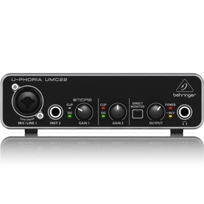 Interface de Audio Behringer U-PHORIA UMC22 - USB