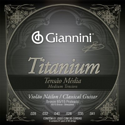 Encordoamento Violão Nylon Giannini GENWTM Titanium Tensão Média
