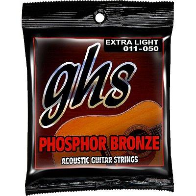 Encordoamento Violão GHS 011-050 S315 Phosphor Bronze