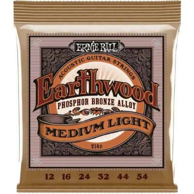 Encordoamento Violão Ernie Ball Earthwood 2146 012-054 - Phosphor Bronze Medium Light