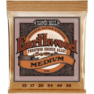 Encordoamento Violão Ernie Ball Earthwood 2144 013-056 Phosphor Bronze Medium