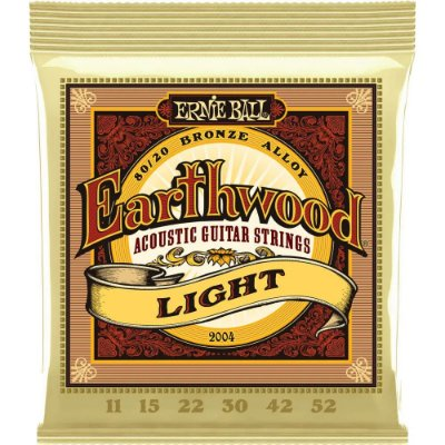 Encordoamento Violão Ernie Ball Earthwood 2004 011-052 - 80/20 Bronze Light