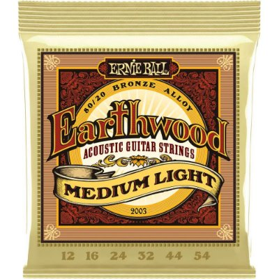 Encordoamento Violão Ernie Ball Earthwood 2003 012-054 - 80/20 Bronze Medium Light