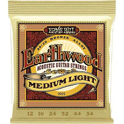 Encordoamento Violão Ernie Ball Earthwood 2003 012-054 - 80/20 Bronze Medium Light