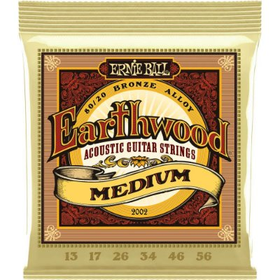Encordoamento Violão Ernie Ball Earthwood 2002 013-056 - 80/20 Bronze Medium