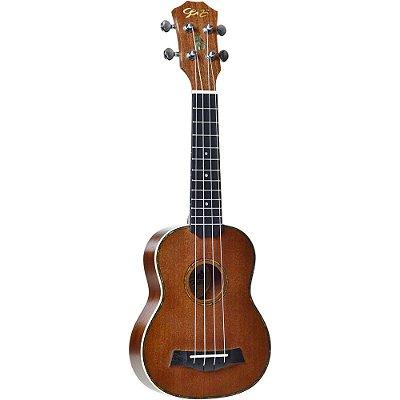 Ukulele Seizi Maui Plus Soprano Acústico Sapele com Bag
