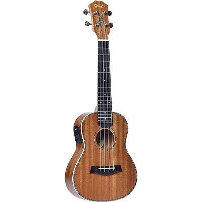 Ukulele Seizi Maui Plus Concerto Elétrico Sapele com Bag
