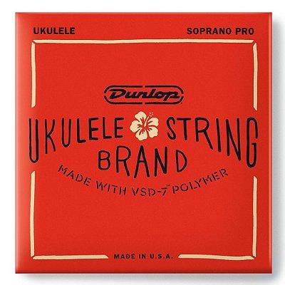 Encordoamento Ukulele Dunlop DUQ301 Soprano Pro com Polímero VSD-7