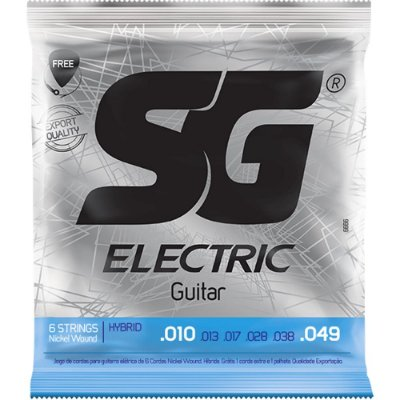 Encordoamento Guitarra SG 010-049 Light Hybrid
