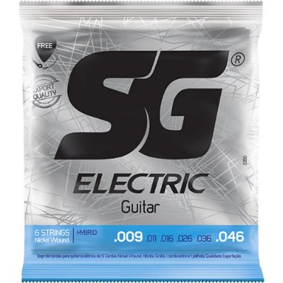 Encordoamento Guitarra SG 009-046 Extra Light Hybrid