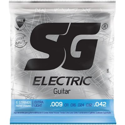 Encordoamento Guitarra SG 009-042 Extra Light