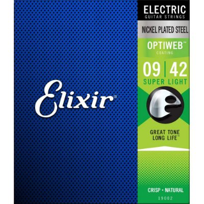 Encordoamento Guitarra Elixir 009-042 Optiweb Super Light 19002