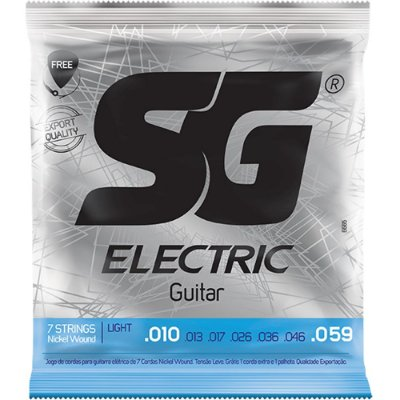 Encordoamento Guitarra 7 Cordas SG 010-059 7 Strings Light
