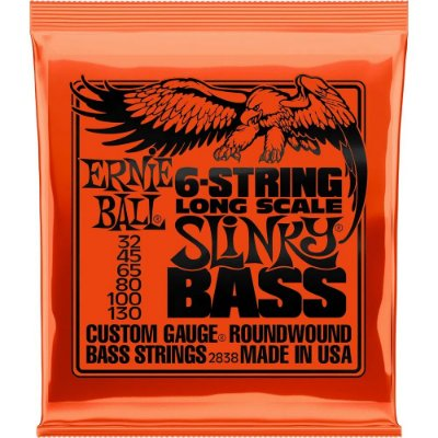 Encordoamento Baixo 6 cordas Ernie Ball 2838 032-130 6-String Slinky Bass