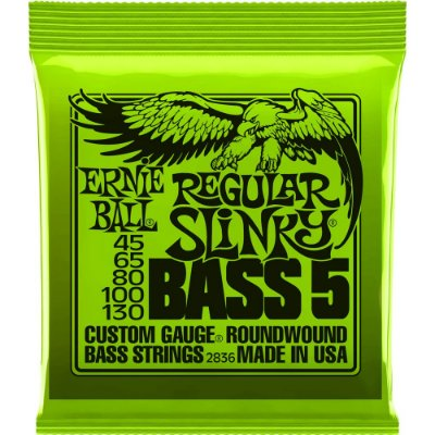 Encordoamento Baixo 5 cordas Ernie Ball 2836 045-130 Regular Slinky Bass 5