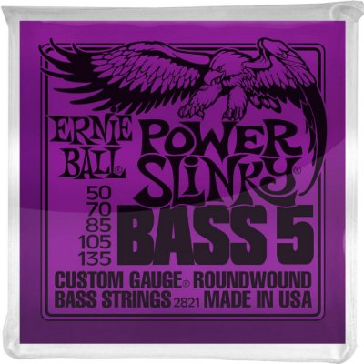 Encordoamento Baixo 5 cordas Ernie Ball 2821 050-135 Power Slinky Bass 5