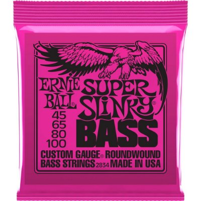 Encordoamento Baixo 4 cordas Ernie Ball 2834 045-100 Super Slinky Bass