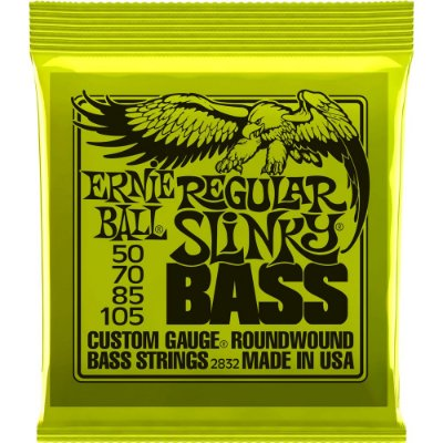 Encordoamento Baixo 4 cordas Ernie Ball 2832 050-105 Regular Slinky Bass