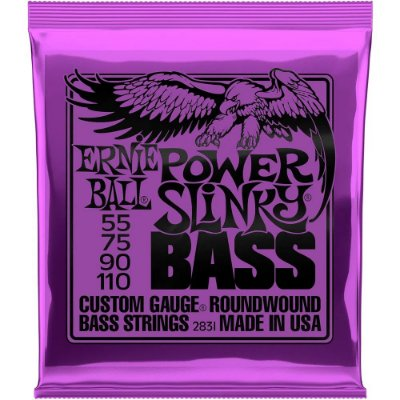Encordoamento Baixo 4 cordas Ernie Ball 2831 055-110 Power Slinky Bass