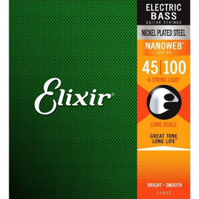 Encordoamento Baixo 4 Cordas Elixir 045-100 Nanoweb Light 14052