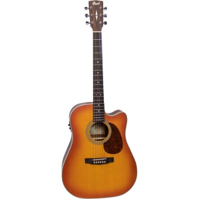 Violão Cort MR600F LVBS Light Burst Satin Tampo Sólido - Dreadnought / Folk