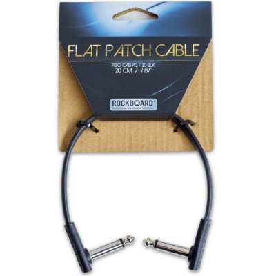 Cabo para pedal Rockboard 20cm Flat Patch Cable RBOCABPCF20BLK